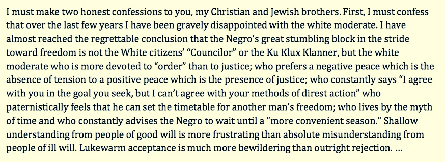 clergymen letter to mlk analysis